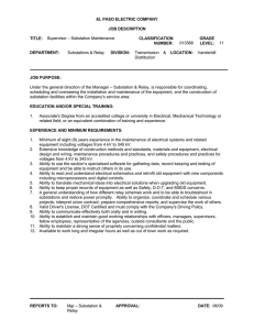EL PASO ELECTRIC COMPANY JOB DESCRIPTION