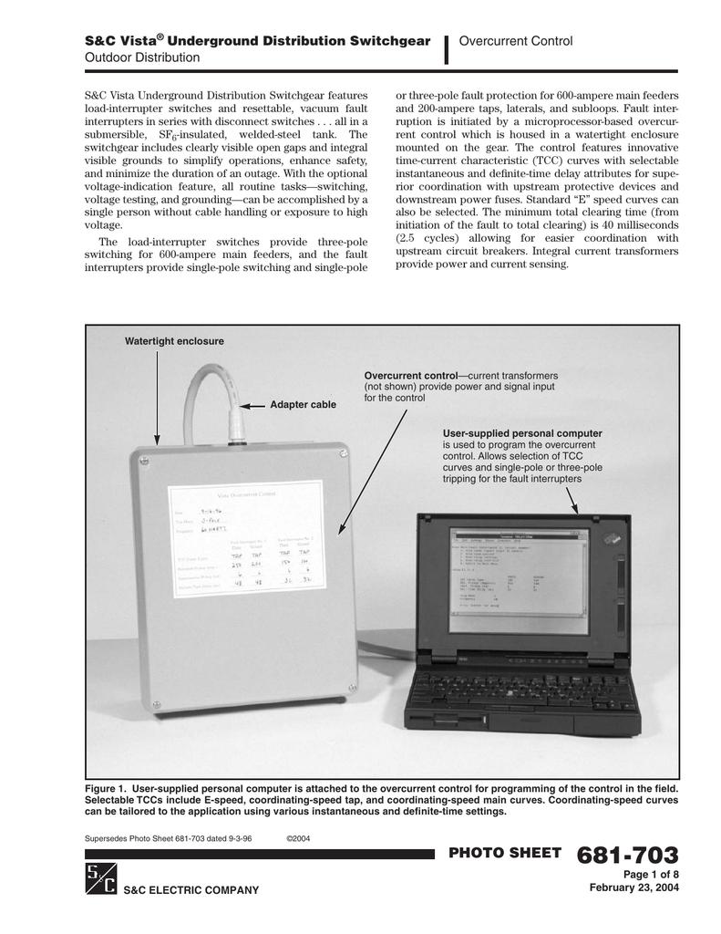 Vista Underground Distribution Switchgear: S&C Vista Underground Distribution Switchgear Overcurrent
