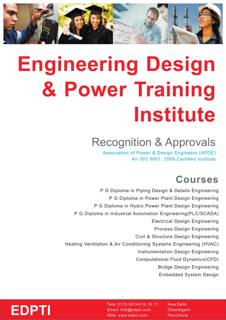 Engineering Design Amp Power Training Institute Recognition Amp Approvals