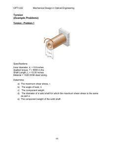 Torsion Example Problems