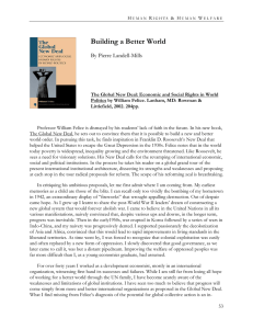 Building a Better World  By Pierre Landell-Mills
