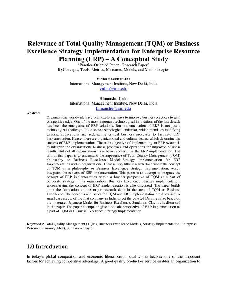 total quality management pdf
