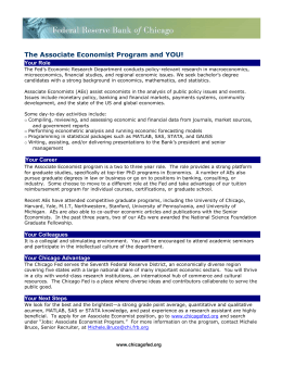 The Associate Economist Program and YOU! Your Role