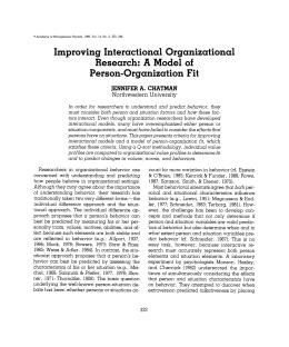 Improving Interactional Organizational Research: