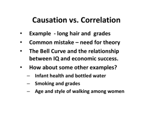 Causation vs. Correlation