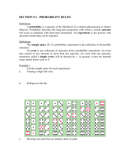 SECTION 5.1 - PROBABILITY RULES