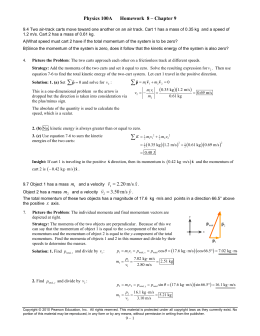 Physics 100A      Homework  8 –...