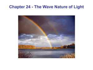 Chapter 24 - The Wave Nature of Light