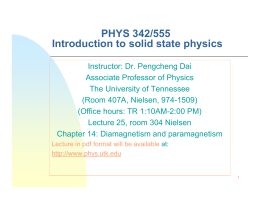 PHYS 342/555 Introduction to solid state physics
