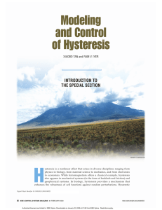 H Modeling and Control of Hysteresis