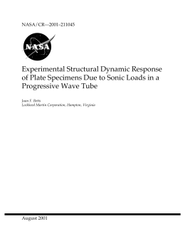 Experimental Structural Dynamic Response Progressive Wave Tube