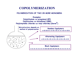 COPOLYMERIZATION