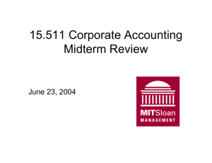 15.511 Corporate Accounting Midterm Review June 23, 2004