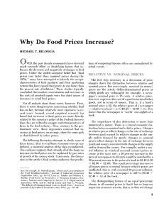 Why Do Food Prices Increase?