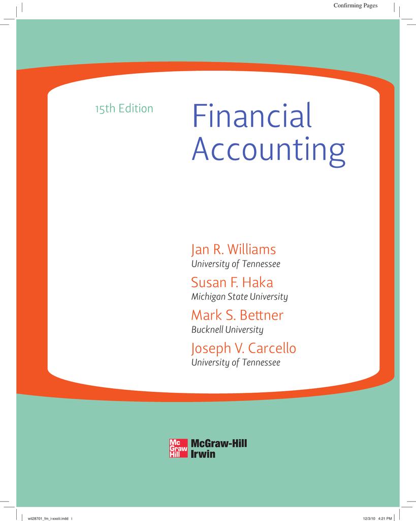 Financial Accounting Jan R  Williams Susan F  Haka