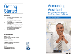 Getting Started Accounting Assistant