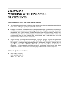 CHAPTER 3 WORKING WITH FINANCIAL