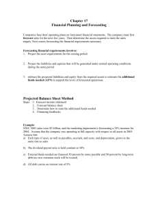 Chapter 17 Financial Planning and Forecasting