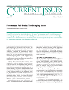 Free versus Fair Trade: The Dumping Issue