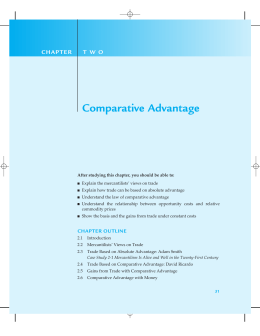 Comparative Advantage C H A P T E R T W O