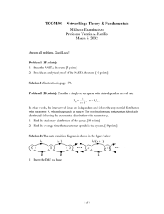 TCOM501 – Networking:  Theory & Fundamentals Midterm Examination March 6, 2002