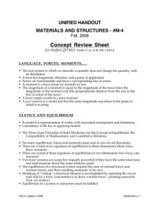 Concept  Review  Sheet UNIFIED HANDOUT MATERIALS AND STRUCTURES - #M-4