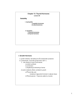 Chapter 13: Thyroid Hormones Solubility