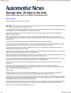 Storage idea: 30 days in the hold Automotive News