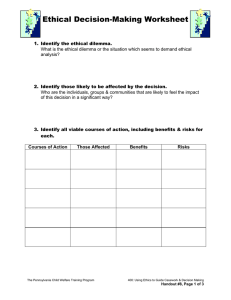 Ethical Decision-Making Worksheet