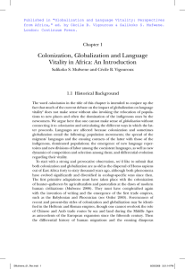 "Published in ""Globalization and Language Vitality: Perspectives"