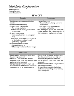Baldwin Corporation SWOT