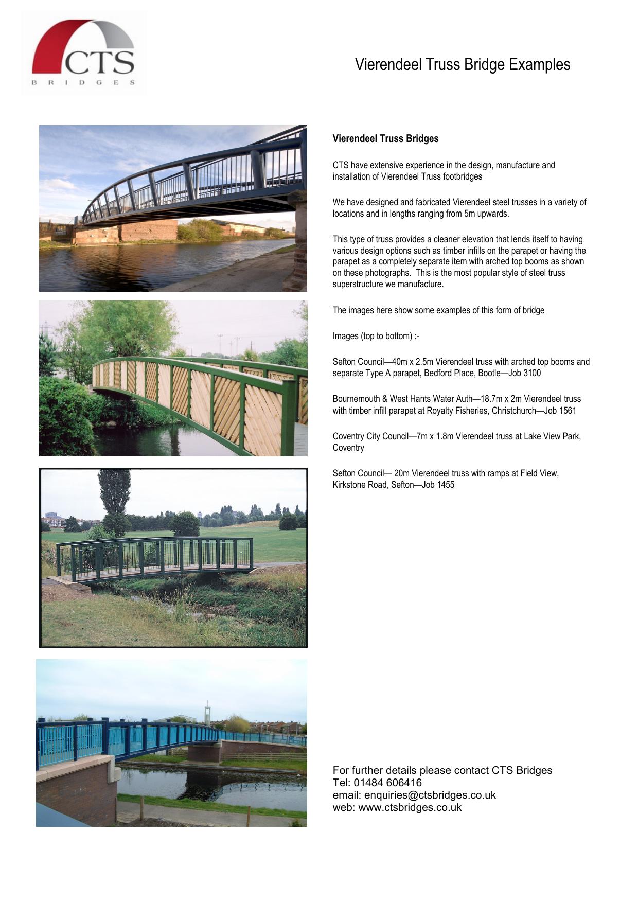 Vierendeel Truss Bridge Examples Vierendeel Truss Bridges
