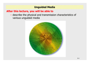 Unguided Media After this lecture, you will be able to –