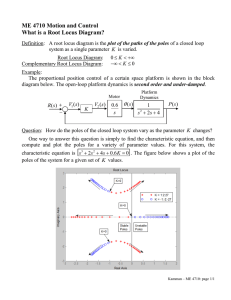ME 4710 Motion and Control What is a Root Locus Diagram?