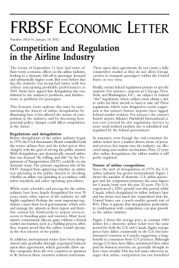 airline deregulation research paper Research papers on aviation abstract the objective of this research paper is to examine the impact of airline deregulation on the technological changes made in aviation control systems after deregulation in airline industry the research paper has discussed the effect.