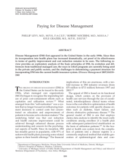 Paying for Disease Management