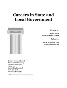 Careers in State and Local Government