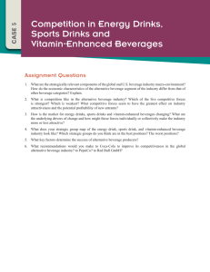 Competition in Energy Drinks, Sports Drinks and Vitamin-Enhanced Beverages Assignment Questions