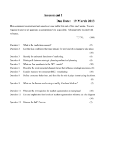 Assessment 1  Due Date:   19 March 2013
