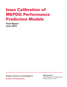 Iowa Calibration of MEPDG Performance Prediction Models Final Report