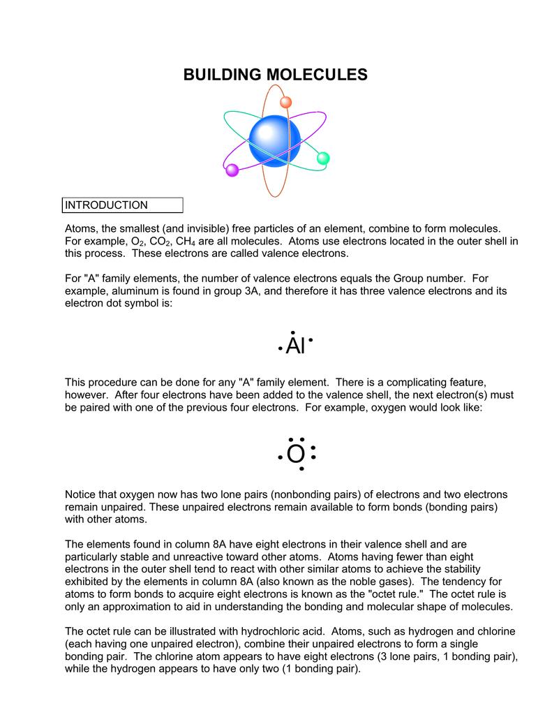 Building Molecules