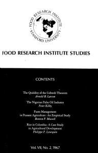 FOOD  RESEARCH  INSTITUTE  STUDIES
