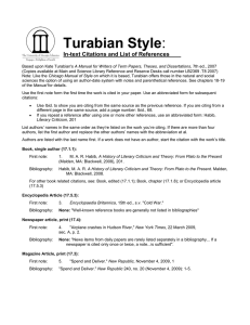 Turabian style for essays