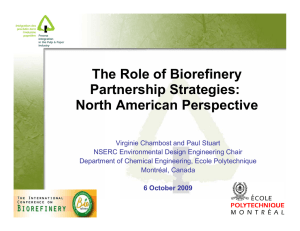 The Role of Biorefinery Partnership Strategies: North American Perspective