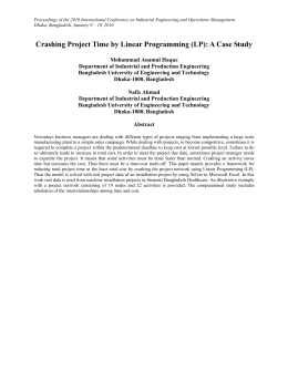 Proceedings of the 2010 International Conference on Industrial Engineering and... Dhaka, Bangladesh, January 9 – 10, 2010