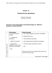 Testing Survey Questions