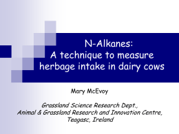 N-Alkanes: A technique to measure herbage intake in dairy cows