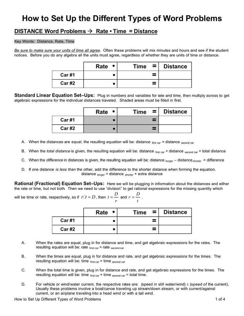 Uncategorized Distance Word Problems Worksheet worksheet distance word problems duliziyou worksheets for time equation talkchannels how to set up the diffe types of