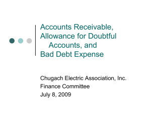 Accounts Receivable, Allowance for Doubtful Accounts, and Bad Debt Expense