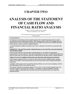 ANALYSIS OF THE STATEMENT OF CASH FLOW AND FINANCIAL RATIO ANALYSIS CHAPTER